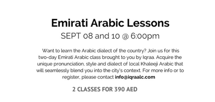 Learn Emirati Arabic in Dubai