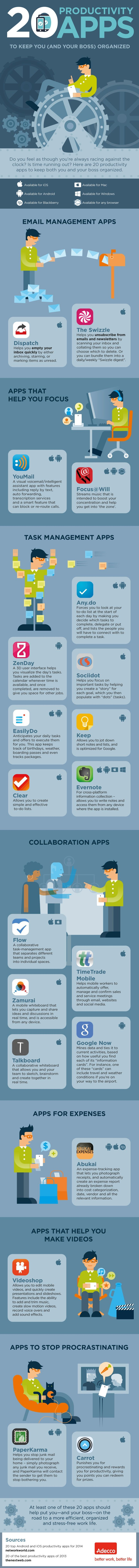 20 Productivity apps